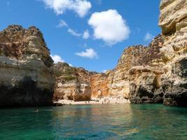 Strand zwischen Felsen foto
