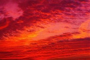 Sonnenuntergangswolken