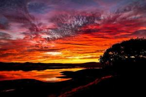 reflektierter Sonnenuntergang