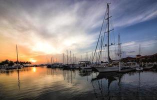 Sonnenuntergang Hafen