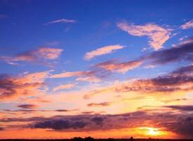 wunderschöner Sonnenuntergang