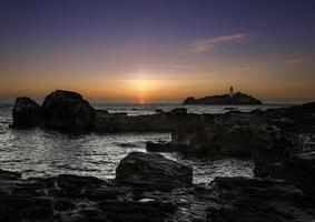 Godrevy Sonnenuntergang foto
