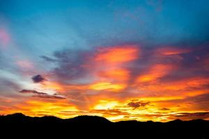 bunter Sonnenuntergang foto