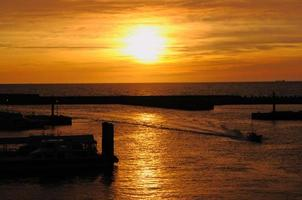 Danshuis Sonnenuntergang foto