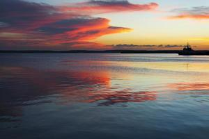 karibischer Sonnenuntergang foto
