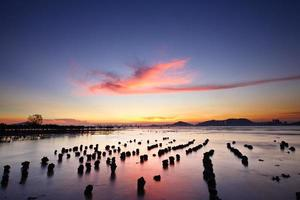 Sonnenuntergang mit Meer foto