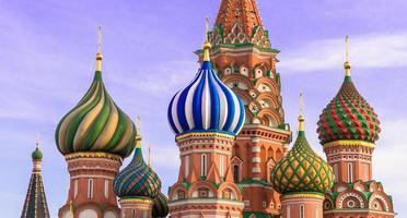 Moskau. Kathedrale St. Basilius foto