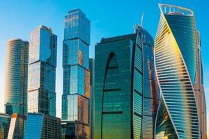 moderne Wolkenkratzer von Moskau Stadt, Russland foto
