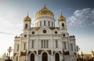 die kathedrale von christus dem retter, moskau, russland foto