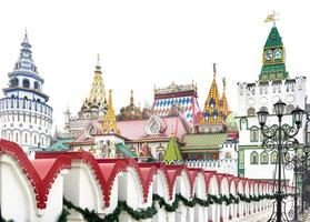 schöne Aussicht auf den Kreml in Izmailovo, Moskau, Russland
