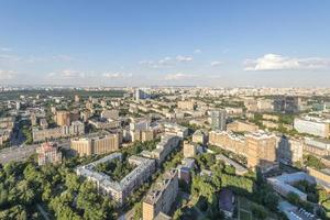 moderne Wohnhochhausviertel von Moskau Draufsicht foto