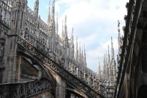 Abschnitt des Daches der Kathedrale von Mailand foto