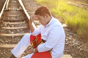 der gewöhnliche thailändische Mann foto