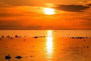 Boot bei Sonnenuntergang