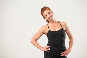 weibliche Fitnesstrainerin foto