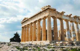 Parthenon auf der Akropolis in Athen, Griechenland foto