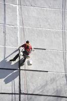 Arbeit in der Höhe. foto