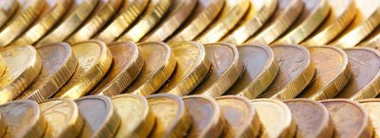 viel goldenes Geld foto