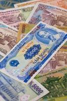 verschiedene vietnam dong banknoten foto
