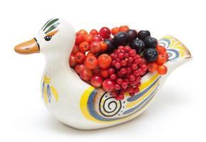 Beeren in Keramikente