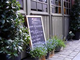 belgisches Café-Menü foto