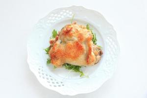 französisches Essen, gegrilltes Hähnchen
