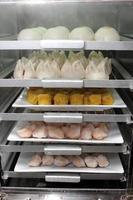Dim-Sum-Gerichte in Dampfgarern gekocht foto