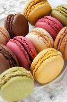bunte französische Macarons foto