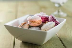 Macarons Macarons mit Puderzucker