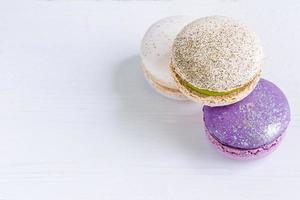 Französisch Macaron Hintergrund foto