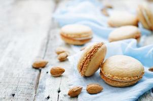 Macaron mit Frischkäse foto