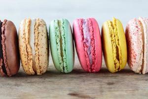 französische Macarons foto