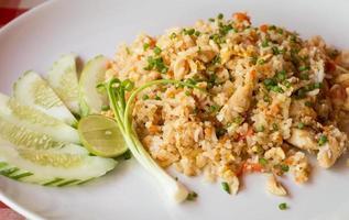 Gebratener Reis mit Huhn foto