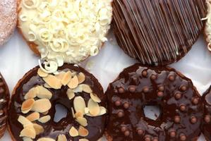 Satz Donuts in Box foto