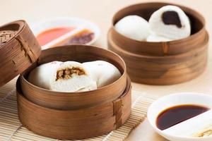 Dim Sum Huhn Pao, Bao, Baozi foto