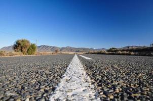 Route 62 in der Nähe von Oudtshoorn - Südafrika foto