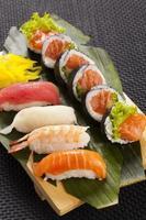 die Zusammensetzung von Nigiri-Sushi