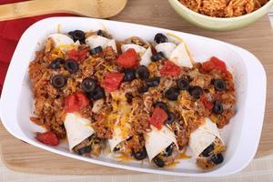 Enchilada Abendessen foto