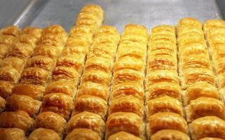 leckere orientalische Süßigkeiten Baklava foto