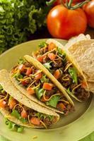 hausgemachte Rinderhackfleisch Tacos foto