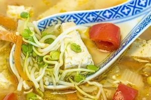 chinesische Suppe mit Tofu