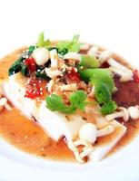 chinesischer tofu mit xo soße foto