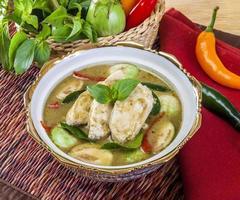 Hühnchen grünes Curry foto