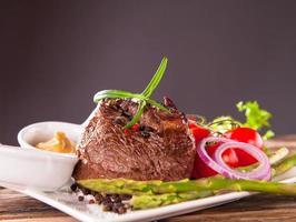 frisches Steak foto