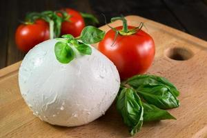 Mozzarella und Tomaten foto