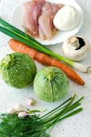 runde Zucchini foto