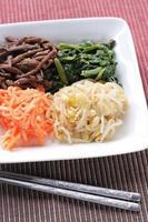 koreanische küche, namul kimchi foto