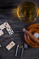 traditionelles kubanisches Domino-Spiel von oben
