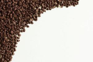 Schokoladenstückchen Hintergrund foto
