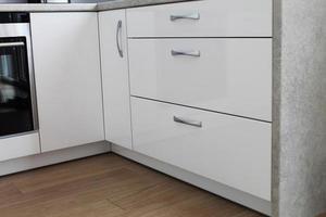 weiße Küche foto
